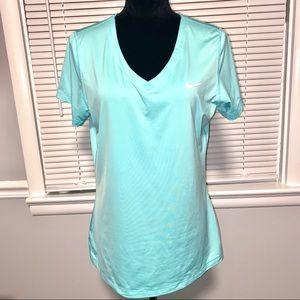 Nike Pro Size XL Teal blue Short Sleeve Top